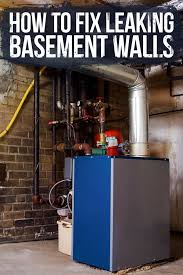 learn how to identify and fix leaks in your basement walls as well as when