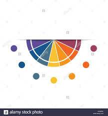 Semicircle Template For Infographics With 7 Parts Options