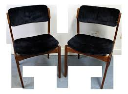mid century modern leather dining chairs pair of mid century danish modern erik buch for o d