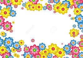 Small Picture Decorative Floral Daisy Page Border Frame Design Stock Photo
