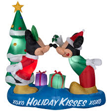 5 5 ft inflatable lighted airblown mickey and minnie with