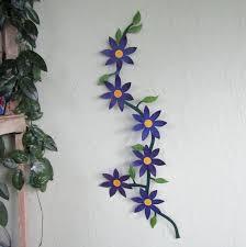 large metal wall art flower vine
