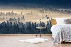 Vlies Fotobehang Bos In De Mist Fls294267383 Onze Top Fotobehangen