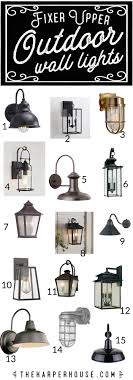 Barn Style Outdoor Lighting Outdoor Wall Lights Fixer Upper Style The Harper House