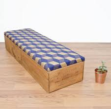 Ottoman Bedroom Storage Upcycled Wine Crate Ottoman Bedroom Storage By Made Anew