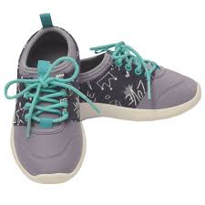 Chooze Girls Gray Star Lace Up Closure Trendy Sneakers 11 12