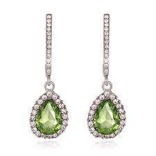 lime green chandelier earrings cubic zirconia lime green long drop earrings