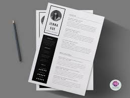 Black White 2 Page Cv Template Cover Letter Minimal