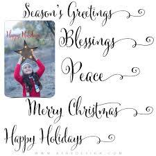 Photoshop Christmas Word Art Set Seasons Greetings Photography