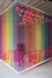Q with the South African artist Pierre Le Riche Rainbow Room installation  at Broederbond exhibition