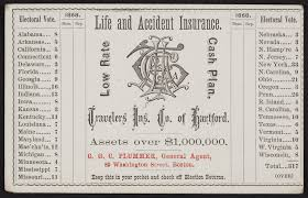 In the state of connecticut, you're legally required to carry your insurance identification card with you at all times. Trade Card For The Travelers Insurance Company Of Hartford Life And Accident Insurance Hartford Connecticut 1868 Historic New England