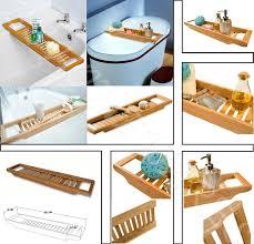 Bath Tray Bamboo Over Bath Rack Tidy Tub Shower Caddy Tray Bath Storage