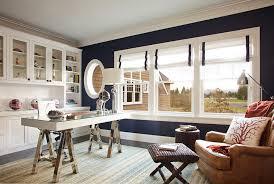 stylish home office. Dark Blue Walls Bring Chic Elegance To The Stylish Home Office T