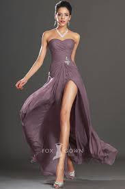 Love it! For my bridesmaid sexy purple strapless split long slim a ...