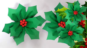 Paper Decorations Christmas Large Christmas Decoration Diy Giant Hollyberry Youtube