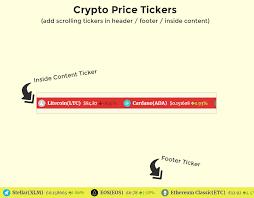Bcc ticker name (read 360 times). Cryptocurrency Widgets Price Ticker Coins List Wordpress Plugin Wordpress Org