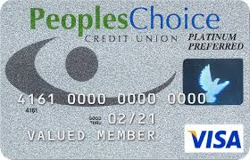peopleschoice credit card visa with numbers name and expiration date