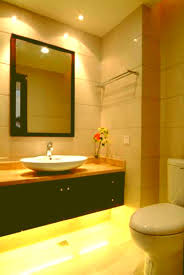 under vanity lighting. Small Bathroom Lighting Fixtures Light Recessed Over Vanity With Vessel Sink And Led Under Photos