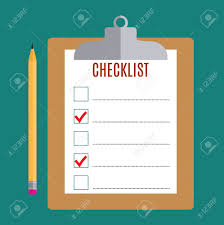 Clipboard With Blank Checklist Form And Pencil To Do List And