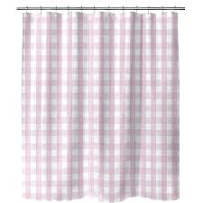 gingham single shower curtain pottery barn august grove