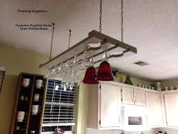ceiling wine glass rack another finished view overhead wine glass rack plans