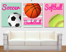 Image Sporty Girl Sports Printable Art Basketball Print Softball Print Soccer Print Girls Room Decor Nursery Art Sports Girl Art Print Pink Green Etsy Girls Sports Art Etsy