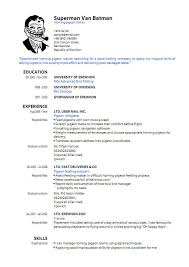 Latest Form Of Resume Latest Resume Format For Freshers Executive