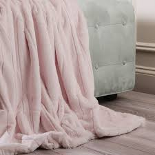 Rose Colored Throw Blanket
