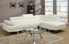 faux leather sectional. Amazon.com: Poundex 2 Pieces Faux Leather Sectional Right Chaise Sofa, White: Kitchen \u0026 Dining