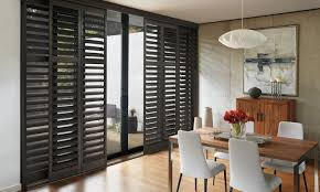 glass door window treatments shutters