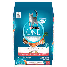 purina one tender selects blend with real salmon dry cat food 16 lb walmart