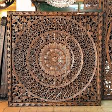 photo 7 of 9 large hand carved wall art panel from thailand teak wood carving perfect for room on tiki wood wall art with large hand carved wall art panel from thailand teak wood carving
