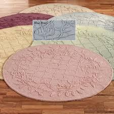 lattice vine round rug