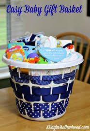 easy baby gift basket