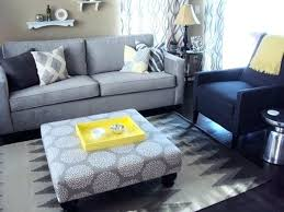 grey and yellow living room grey blue and yellow living room living room ottoman gray yellow
