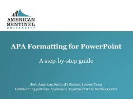Apa Style For Powerpoint Apa Formatting For Powerpoint