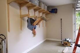 building garage shelves cantilevered