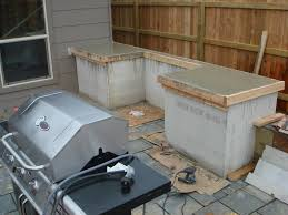 Outdoor Kitchen Countertop How To Build Outdoor Kitchen Cabinets
