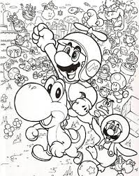 Small Picture Mario and Luigi Fly with Little Dragon in Mario Brothers Coloring