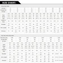 Honey Dress Size Chart