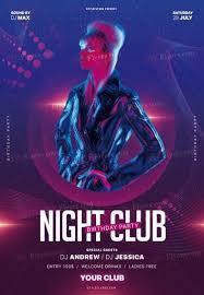Birthday Flyers Night Club Birthday Party Psd Flyer Template