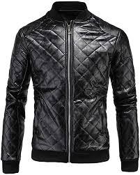Opinionated <b>Men's Classic Pu Leather</b> Motorcycle Jacket Biker ...