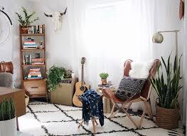 office shag. New Darlings - Office Refresh Desert Boho/mid-century Style Printed Shag  Rug Plants Indigo Throw Mixed Prints Office