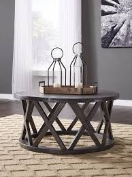sharzane gray round cocktail table