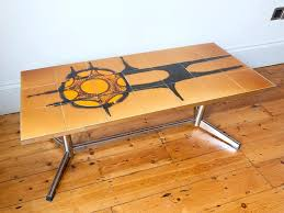 the most tiled top and chrome coffee table retro living for ideas bernie phyls side tables