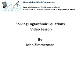 log equations math solving logarithmic equations help for in middle and high school math logarithm formula