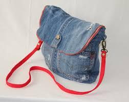 Only for oder Recycled jeans bag, denim bag, jeans cross body bag, blue