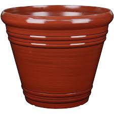 garden treasures 16 3 in w x 14 37 in h red resin planter