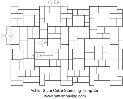 Template Pattern Gorgeous Stamped Asphalt Cable Templates