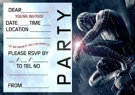 Spiderman Birthday Invitation Templates Free Free Editable Spiderman Birthday Invitation Templates